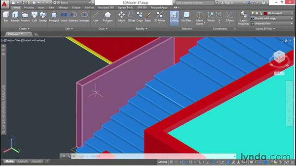 Subobject manipulation: 3D Architectural Modeling with AutoCAD