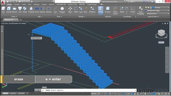 Modeling stairs from plans: 3D Architectural Modeling with AutoCAD