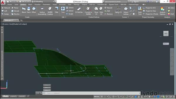 Sculpting a sloping terrain: 3D Architectural Modeling with AutoCAD
