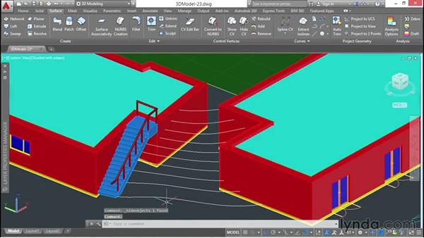 Lofting a surface between contours: 3D Architectural Modeling with AutoCAD