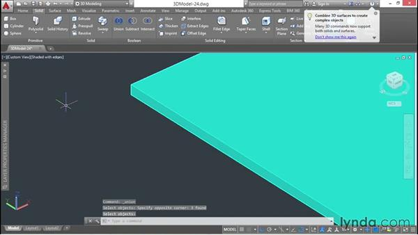 Copying the ceiling to create a new floor: 3D Architectural Modeling with AutoCAD
