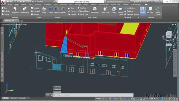 Removing unwanted volume from walls: 3D Architectural Modeling with AutoCAD
