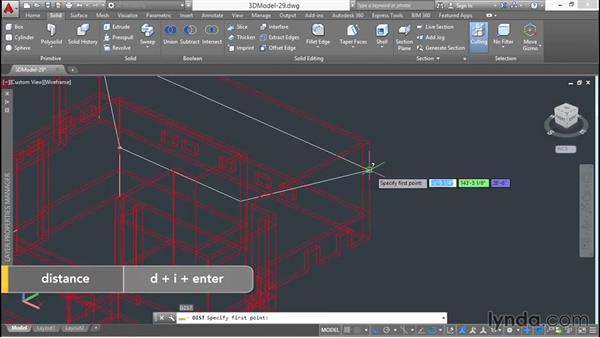 Sketching roof planes in wireframe: 3D Architectural Modeling with AutoCAD
