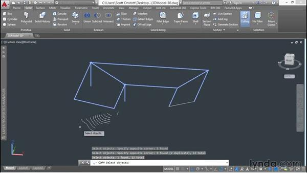 Duplicating a wireframe for later reuse: 3D Architectural Modeling with AutoCAD