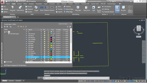 Building interior partitions: 3D Architectural Modeling with AutoCAD