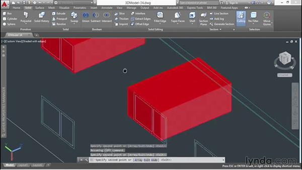 Cutting window openings: 3D Architectural Modeling with AutoCAD