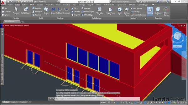 Creating custom windows: 3D Architectural Modeling with AutoCAD