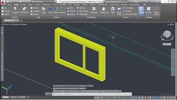 Copying windows around the second floor: 3D Architectural Modeling with AutoCAD
