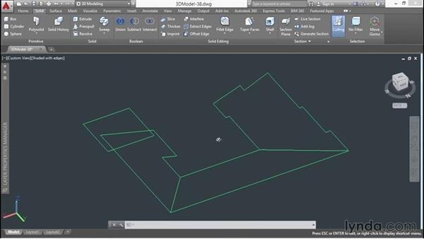 Building roof surfaces: 3D Architectural Modeling with AutoCAD
