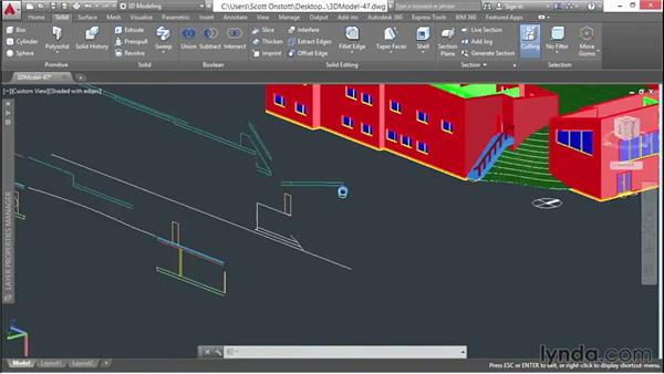 Finishing the clerestory windows: 3D Architectural Modeling with AutoCAD