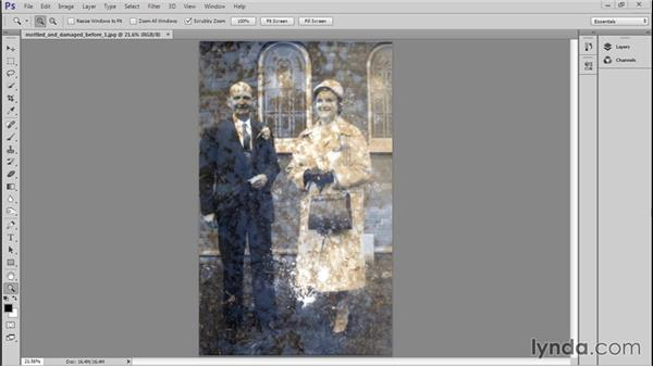 Evaluating the photo: Photo Restoration Techniques: Damaged Black-and-White Images