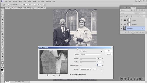 Sharpening: Photo Restoration Techniques: Damaged Black-and-White Images