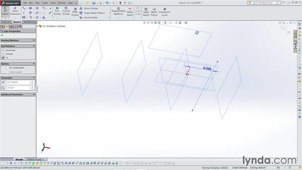 Creating construction planes: Weldments with SOLIDWORKS