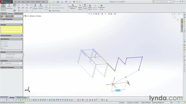 Sketching in 3D: Weldments with SOLIDWORKS