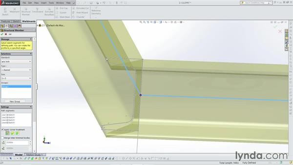 Adding structural members: Weldments with SOLIDWORKS