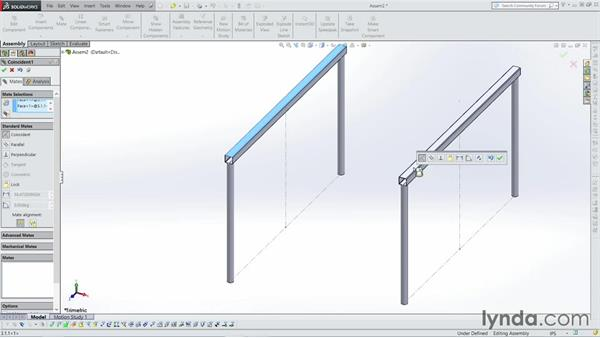Making an assembly from a weldment: Weldments with SOLIDWORKS