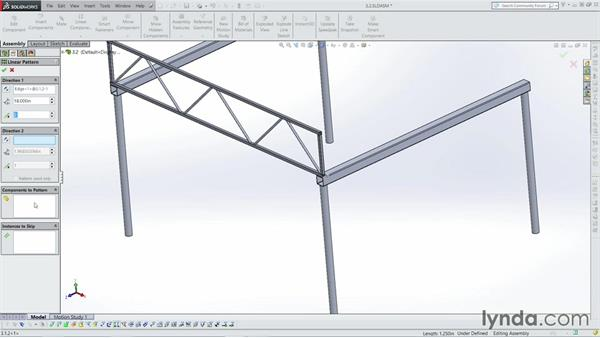 Patterning and mirroring: Weldments with SOLIDWORKS