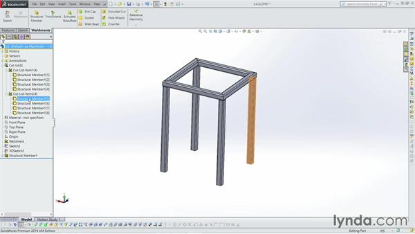 Creating a bounding box: Weldments with SOLIDWORKS