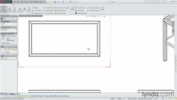 Creating a basic weldment drawing: Weldments with SOLIDWORKS