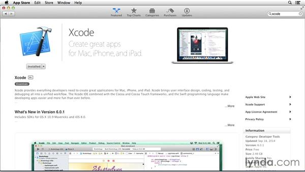 Finding and installing Xcode: Programming for Non-Programmers: iOS 8