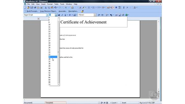 Creating a template: WordPerfect Office X4 Essential Training