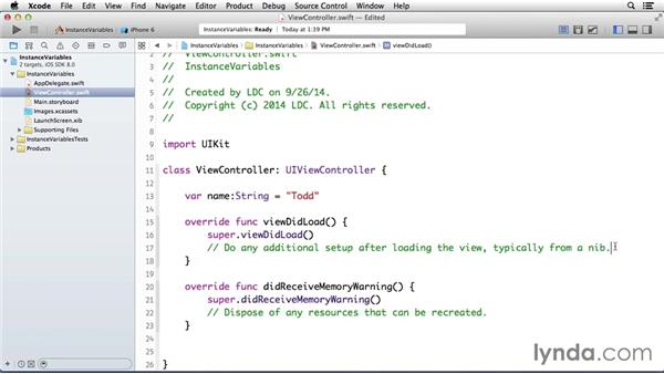 Using instance variables: Programming for Non-Programmers: iOS 8