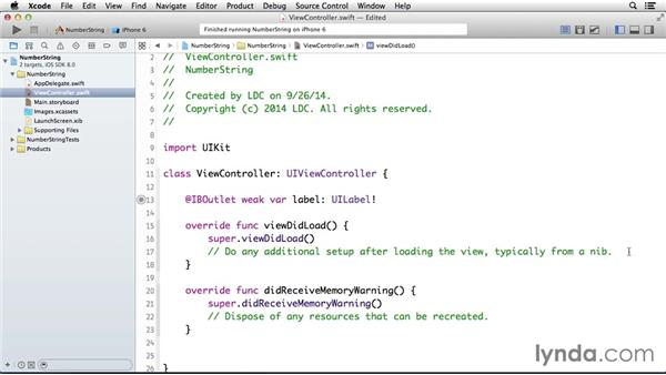 Placing a number variable in a string: Programming for Non-Programmers: iOS 8