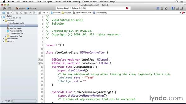 Solution: Create two variables: Programming for Non-Programmers: iOS 8