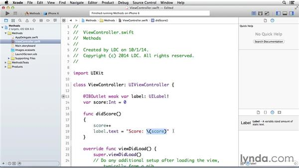 Using methods: Programming for Non-Programmers: iOS 8