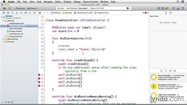 Understanding parameter methods: Programming for Non-Programmers: iOS 8