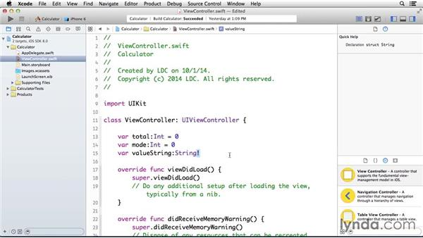 Setting up instance variables and methods: Programming for Non-Programmers: iOS 8