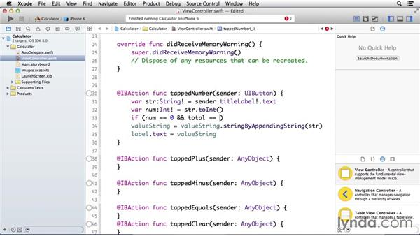 Controlling when tapped numbers should not appear in the calculator: Programming for Non-Programmers: iOS 8