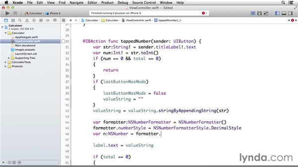 Formatting the number with commas: Programming for Non-Programmers: iOS 8