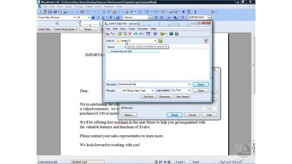 Creating a form file: WordPerfect Office X4 Essential Training