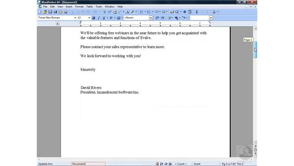 Merging with envelopes and labels : WordPerfect Office X4 Essential Training