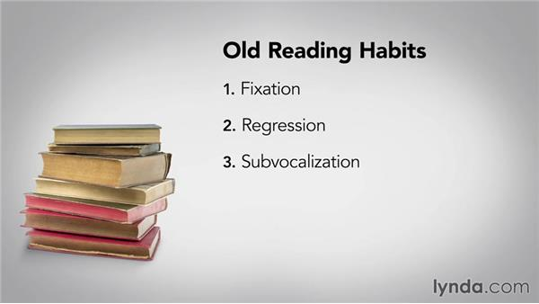 Three reading habits that slow you down: Speed Reading Fundamentals