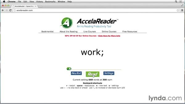 Reading faster on the computer screen: Speed Reading Fundamentals