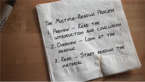 Using the multiple-reading process: Top 5 Speed Reading Tips