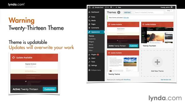 A note about modifying updatable themes: Creating a Photo Gallery in WordPress with jQuery