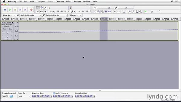 Fixing clicks and pops: Cleaning and Repairing Audio with Audacity