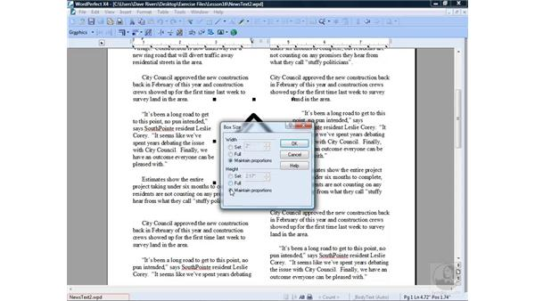 Modifying graphics: WordPerfect Office X4 Essential Training