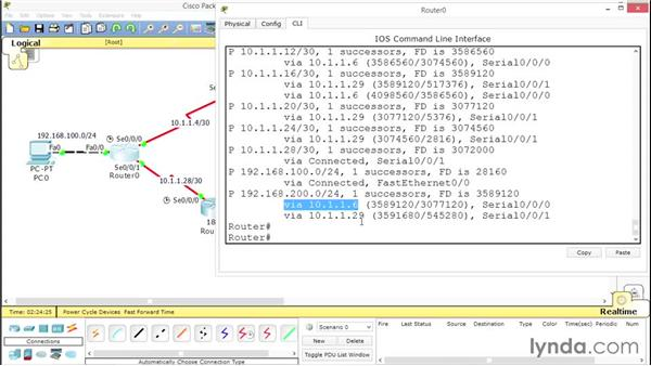 Exploring the topology table: Advanced Topics in Cisco Routing: RIPv2, EIGRP, and OSPF