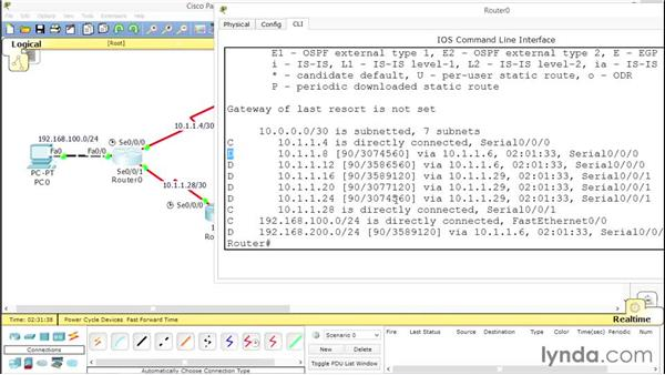 Setting up a successor route: Advanced Topics in Cisco Routing: RIPv2, EIGRP, and OSPF
