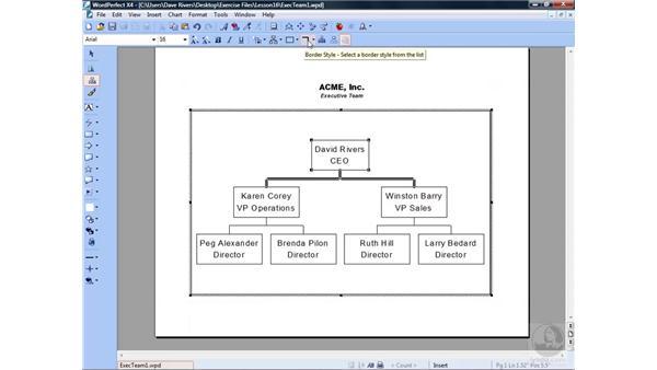 Creating organization charts: WordPerfect Office X4 Essential Training