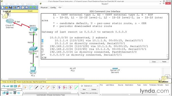 Further exploring OSPF configuration: Advanced Topics in Cisco Routing: RIPv2, EIGRP, and OSPF