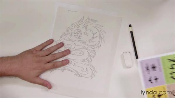 Drawing asymmetric tribal designs: Drawing Vector Graphics: Tribal Illustration