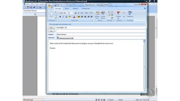 Sending and faxing documents: WordPerfect Office X4 Essential Training