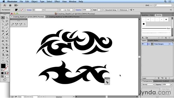 Creating depth: Drawing Vector Graphics: Tribal Illustration