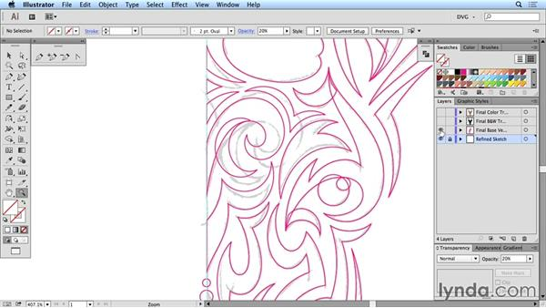 Tribal design solution: Create a tribal-style symmetric design from a photo reference: Drawing Vector Graphics: Tribal Illustration