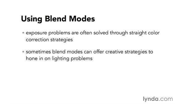 Introduction to using blend modes to correct overexposure: Video Post Tips Weekly